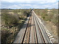 SP6814 : Railway at Dorton by Andrew Smith