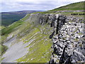 SD9394 : Oxnop Scar : Swaledale by Hugh Mortimer
