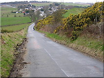 NS7271 : Bank of Gorse on Road to Mollinsburn by Iain Thompson
