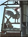 SP9004 : Cock & Rabbit Inn Sign by Rob Farrow