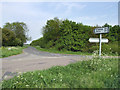 TL1557 : The road to Duloe and Staploe. by Mike Fowkes