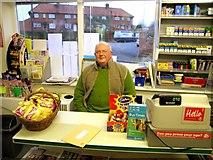 SE4457 : John Fisher in the village shop, Whixley by Martyn Gorman
