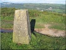 SN6701 : Trig pillar on Mynydd Gelliwastad by Nigel Davies