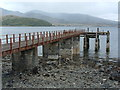 NM7027 : Disused pier by Alan Stewart