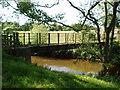 SJ6763 : Foot bridge over the River Weaver by Ian Warburton