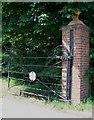SP7429 : Gate: Road to Addington by Rob Farrow