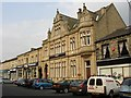 SE1422 : Bank buildings on Bradford Road by Humphrey Bolton