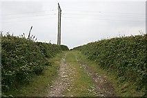 SW7034 : Farm Track and Powerlines by Tony Atkin