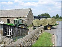 NY5190 : Bringing in the hay at Old Castleton by Oliver Dixon