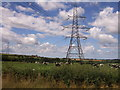 SN1109 : Cows, clouds and a pylon near Begelly by ceridwen