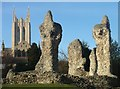 TL8564 : Bury St Edmunds Cathedral and Abbey ruins by Bob Jones