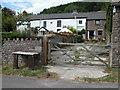SO3018 : Cottages near Llwyn-gwyn by Philip Halling