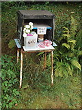 SW9371 : Produce stall with honesty box, Trevance by David Hawgood
