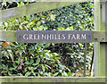 SJ6079 : Sign at the entrance to Greenhills Farm by Alan Godfree
