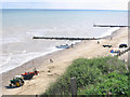 TG3136 : Mundesley beach in summer by Stephen Craven