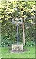 TL6298 : Hilgay village sign by Martin Pearman
