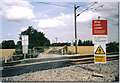TL3846 : Level crossing on footpath from Melbourn (The Moor) to Meldreth (North End) by Howard Gascoyne