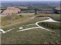 SU3086 : Uffington White Horse and Dragon Hill by Phil Champion