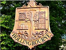 TQ8354 : Hollingbourne Village Sign by Philip Frith