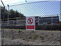 SU4787 : Security fence and sewage works, Harwell site by Phil Champion