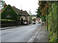 SU8294 : The A40 through West Wycombe Village by Peter Jemmett
