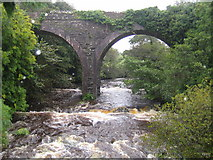 Q7009 : Finglas River and disused railway viaduct by Nigel Cox