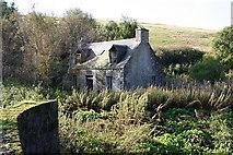 NJ3731 : Derelict cottage at Bridgend on the A941. by Des Colhoun