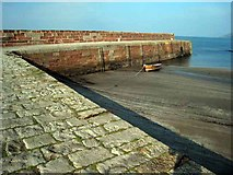 NX0883 : Breakwater at Ballantrae by Oliver Dixon