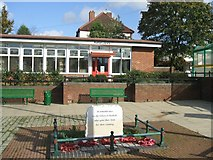 SK0201 : Rushall Library and War Memorial by John M