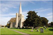 TQ7871 : The Parish Church of St Werburgh, Hoo by Ifor R Griffiths