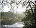 SH5661 : The reflection of Y Bigil in the still waters of Llyn Padarn by Eric Jones