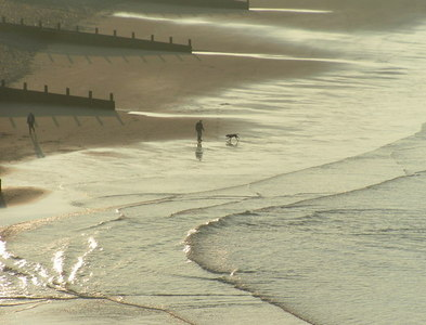 NX9511 : The beach at St. Bees by Dave Dunford