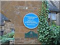 SP3537 : Blue Plaque at the Manor House by David Stowell
