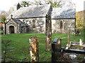 SN0234 : Pontfaen church with pillar stones by ceridwen