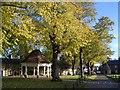SP9556 : Harrold Village Green by Nigel Stickells