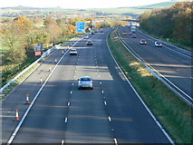 SU1781 : M4 eastbound carriageway towards Junction 15. by Brian Robert Marshall