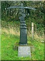 SN5411 : Cycle route waymarker, Tumble by Nigel Davies