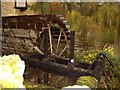 SP9657 : Waterwheel & Sluice Gate at Odell Mill by Nigel Stickells
