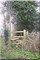 SO4603 : Footpath sign and stile by Jonathan Billinger