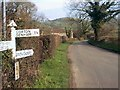 ST6224 : Signpost Near Cadbury Castle by Dave Lowther