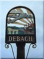 TM2454 : Debach Village Sign (Detail) by Keith Evans