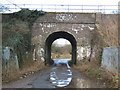 SU1383 : railway bridge on National cycle route 45 by David Collins