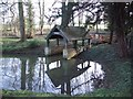 SP9362 : Boathouse at Hinwick Hall by Nigel Stickells