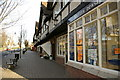 SP0481 : Parade of shops opposite Bournville village green by Phil Champion