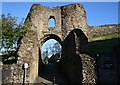 SX3384 : Launceston Castle Gate by Tony Atkin