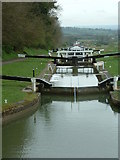 ST9861 : Caen Hill Flight, Lock 44 Downwards by Paul Huntley