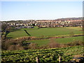SE1421 : View of playing fields off Carr Green Lane, Rastrick by Humphrey Bolton