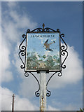 TQ7430 : Hawkhurst sign, High Street by Oast House Archive