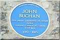 SP5310 : Blue plaque for John Buchan by David Luther Thomas