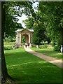 SP6837 : End view of Palladian Bridge, Stowe Landscape Gardens by John Latchford